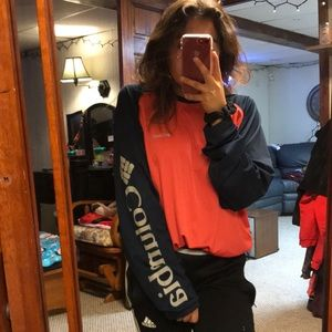 A red Columbia long sleeve